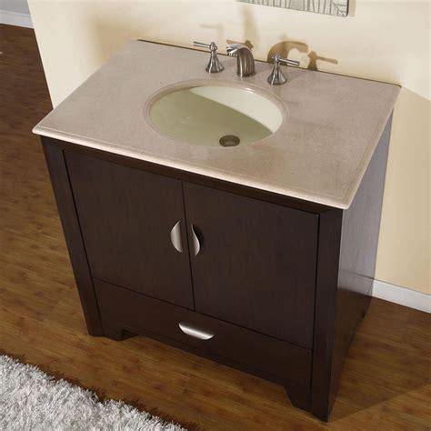 36 quot modern single bathroom vanity with sink espresso