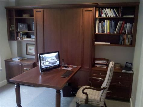 Murphy Bed Office Desk Office With A Murphy Bed 1 Traditional Home Office Seattle By Organized Spaces