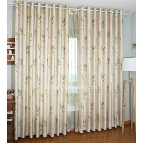 beautiful curtains beige green leaf bedroom most beautiful curtains