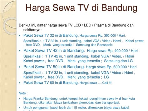 Tv Lcd Murah Di Bandung hp 08522060227 sewa tv bandung sewa tv plasma bandung