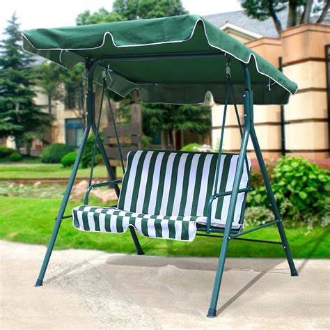 2 seater outdoor swing 2 seater outdoor patio garden swing cushioned canopy