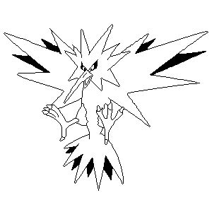 pokemon coloring pages zapdos zapdos lines by sulfura on deviantart