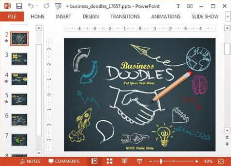 Animated Business Doodle Timeline Template For Powerpoint Animated Timeline Powerpoint Template