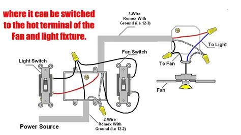 Wiring A Ceiling Fan With Light 2 Switches How To Wire Ceiling Fan With Light Switch Outdoor Ceiling Fans