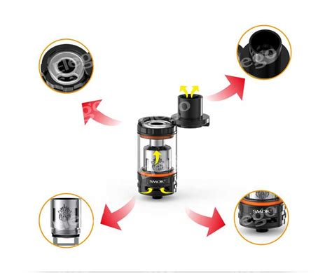 Smok Tvf8 Baby Beast Glass Replacement Pyrex Tank Kaca Rta Rba smok tfv8 tank fit for max wattage 260w 6 0ml 5 5ml