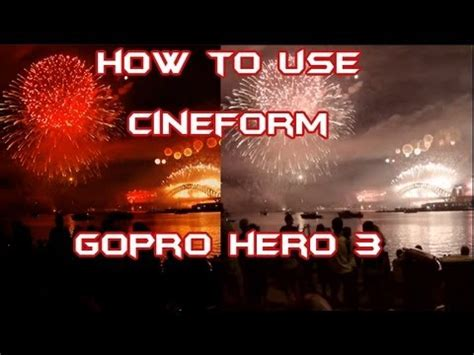 how to use studio 4 how to use cineform studio with your gopro 3 black