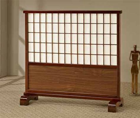 Room Dividers Japanese Classic Japanese Style Room Divider Walnut Wooden Frame