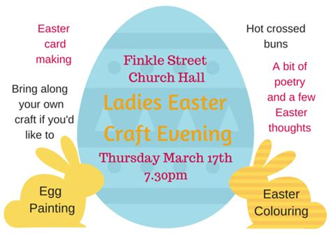easter evening ladies easter evening 17th march the church on finkle