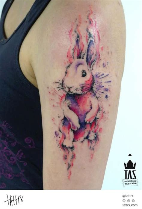 watercolor tattoos regina rodrigo tas s 227 o paulo brazil rabbit