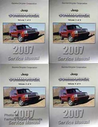 service and repair manuals 2007 jeep commander electronic toll collection 2007 jeep commander factory shop service manual 4 volume set factory repair manuals