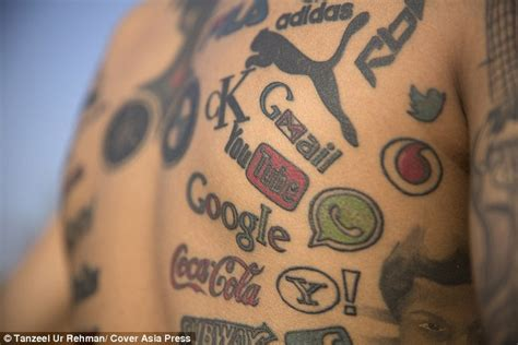 indian tattooist has 189 of his favourite companies logos