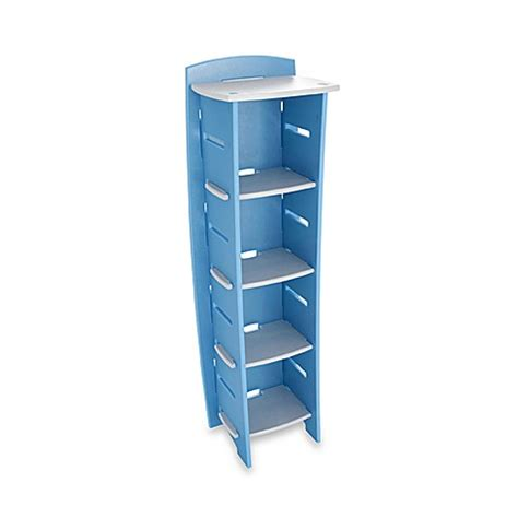 bed bath and beyond bookcase legare 5 shelf bookcase in blueberry bed bath beyond