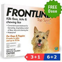 frontline spot on top for dogs frontline top spot dosage chart petarmor flea tick protection for dogs up to 22 lbs