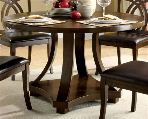 keukenhof dark walnut round pedestal dining room set keukenhof dark walnut round pedestal dining room set from