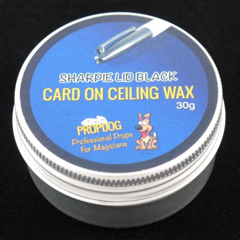 Ceiling Wax by Card On Ceiling Wax By Propdog Sharpie Lid Black 30g