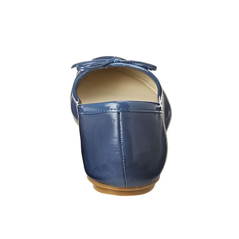 Nine Wests Blue Savona Leather by Lyst Nine West Cacey Ballerina In Blue