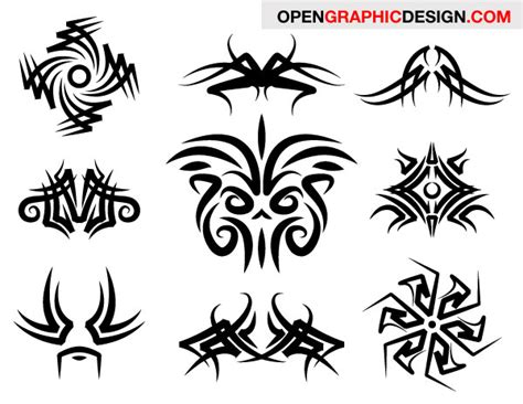 tribal decoration tattoo vector free download 200 free vectors tribal graphics tattoo designs