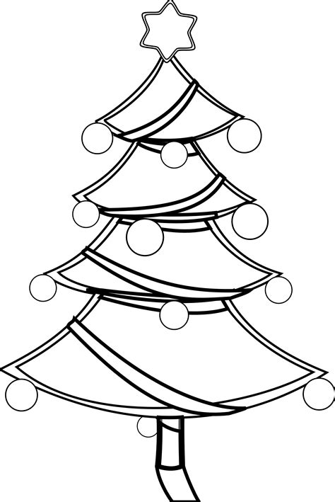 christmas tree clipart coloring page black and white christmas tree clip art cliparts co