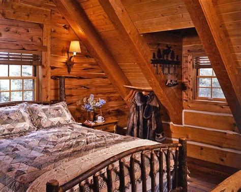 log cabin bed cozy log cabin with charming interior cozy homes life