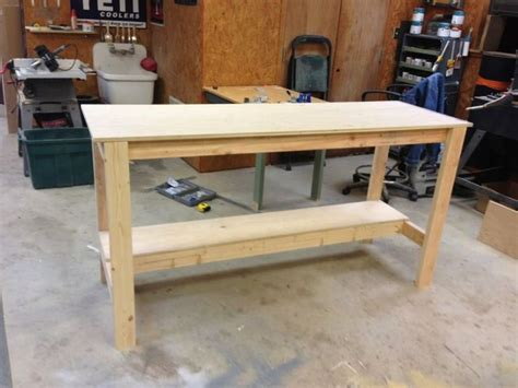 easy bench design simple workbench plans family handyman best house design
