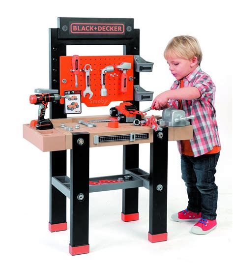 kids black and decker work bench smoby kids black decker bricolo centre childrens tool