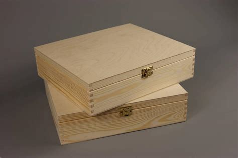 Wooden Boxes For Decoupage - plain wood wooden box chest decoupage 29 x 25 x 7 5 p29