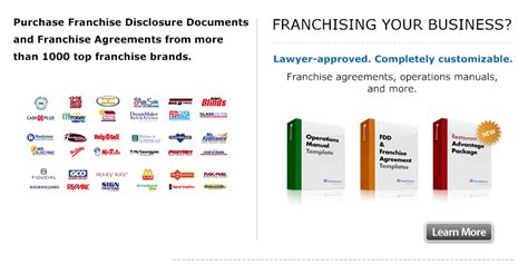 Franchiseprep Fdds Franchise Disclosure Documents Franchise Fdd Template