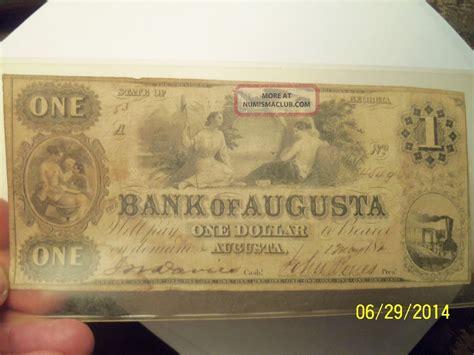 bank of augusta augusta bank of augusta one dollar bill 1840 s
