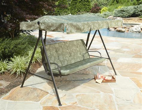 Kmart Patio Swing Cushions Smith Cora 3 Person Cushion Swing Green Limited