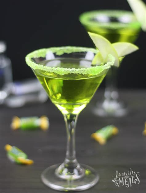 martini green green apple jolly rancher martini family fresh meals