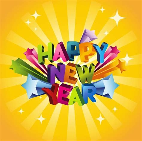 new year graphic vector free happy new year 3d vector illustration free vector in