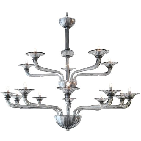 chandelier murano murano smoked glass fifteen arm chandelier jean marc fray