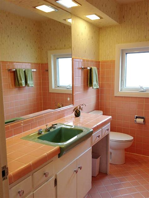 retro pink bathroom ideas pink bathrooms archives retro renovation