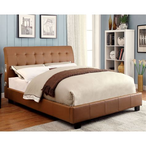 headboard with speakers furniture of america gallant upholstered platform bed with