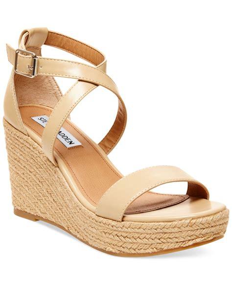 madden wedge sandals steve madden s montaukk platform wedge sandals in