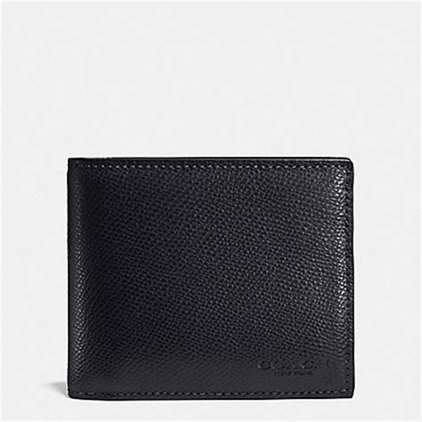 Coach F74974 Compactid Blackcherry coach f74974 compact id wallet in crossgrain leather