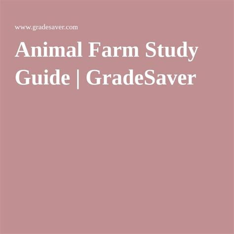 a guide for the study of animals classic reprint books 17 best images about animal farm on summary