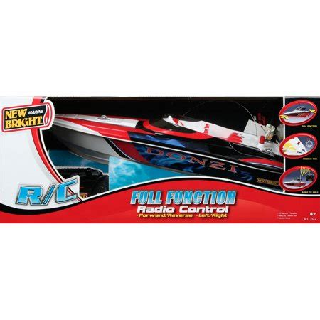 new bright rc boat new bright full function donzi boat remote controlled toy