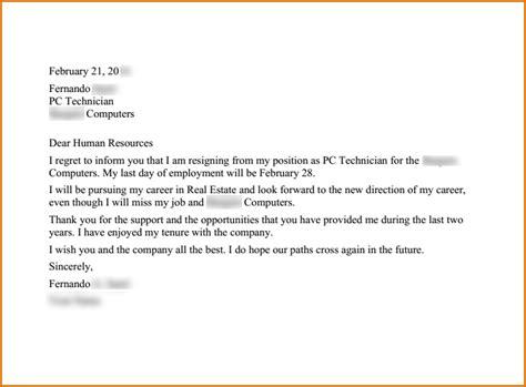 Real Estate Resignation Letter by Resignation Letter Format Useful Templates Write Letter Of Resignation Best Models 2016