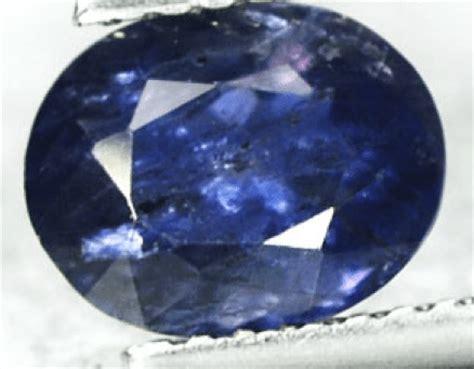 1 28 ct oval blue iolite gemstone