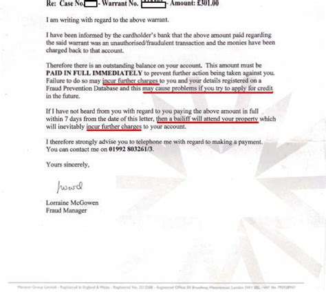 Letter Of Credit Charges Uk Bailiffs Getting Money Back Using A Chargeback