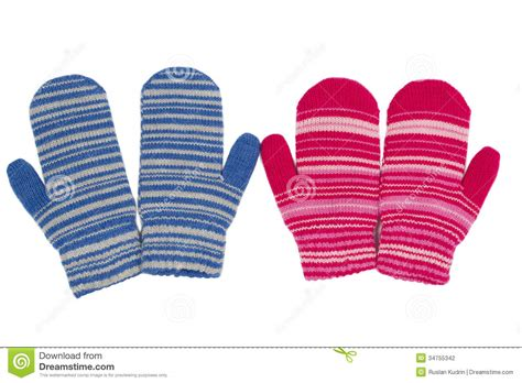 2 Pair Mittens S two pairs of mittens blue and stock photography image 34755342