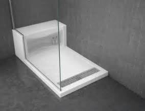 solid surface shower base with seat design