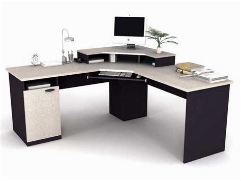 Corner White Desk Contemporary Corner Desk To Maximize Space Usage