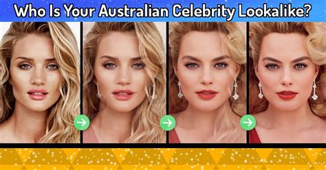 what is your celebrity look alike quiz who is your australian celebrity lookalike