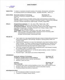 Resume Sles For Computer Science Students Sle Computer Science Resume 8 Exles In Word Pdf