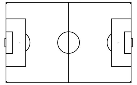 blank football field template blank soccer field