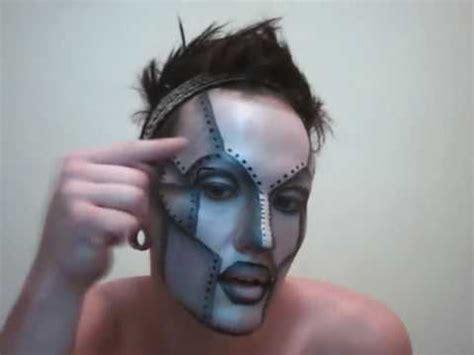 makeup tutorial queer robot mask make up tutorial youtube