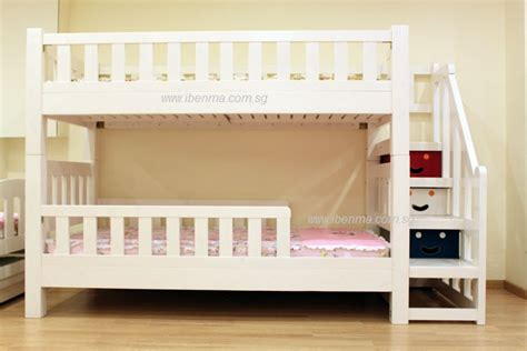 Bunk Bed Stairs Sold Separately Bl21 Convertible Bunk Bed With Staircase Curtains