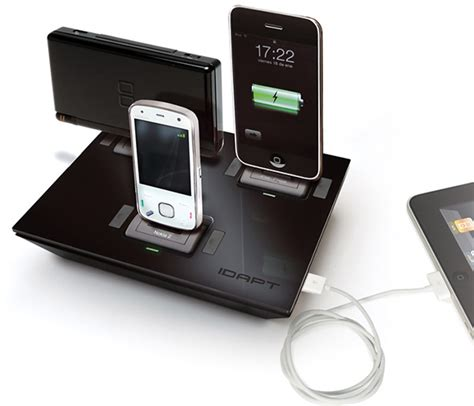 charging station idapt charging station also cures gadget addiction